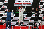 KUALA LUMPUR, MALAYSIA - May 29:  Podium race 1 (L-R) Abdul Kaathir of Malaysia and Lai Wee Sing of Malaysia (#23), Fitra ERI of Indonesia (#16) and Pee Sau Fan of Malaysia and Pee Sau Peng of Malaysia (#46) Malaysia Championship Series Round 1 at Sepang International Circuit on May 29, 2016 in Kuala Lumpur, Malaysia. Photo by Peter Lim/PhotoDesk.com.my