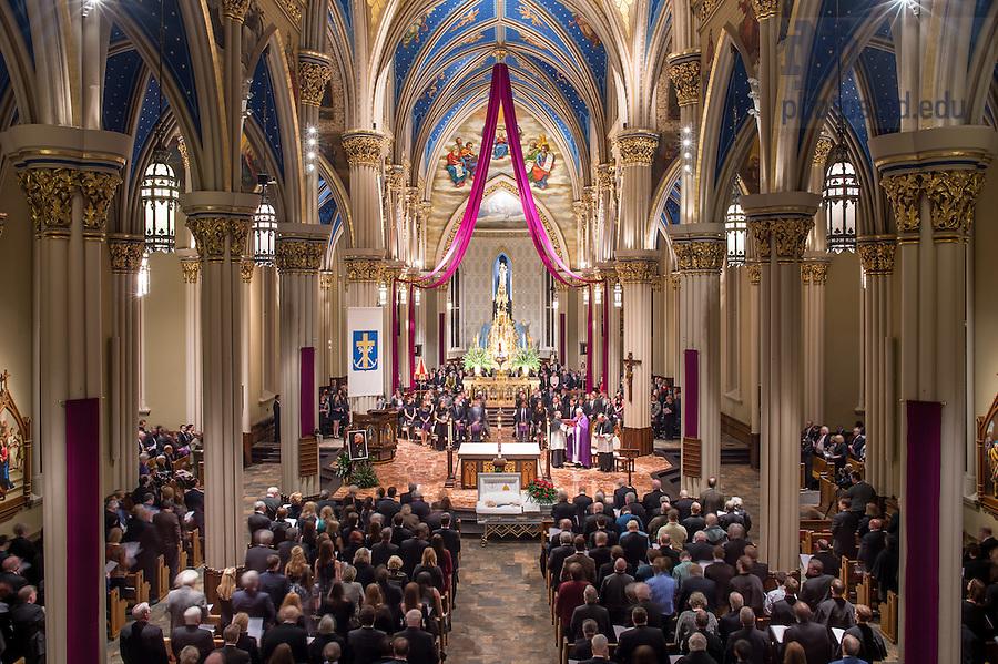 Mar. 3, 2015; Wake for President Emeritus Rev. Theodore M. Hesburgh, C.S.C. (Photo by Matt Cashore/University of Notre Dame)