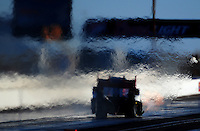 Jan 29, 2008; Chandler, AZ, USA; NHRA funny car driver Ashley Force races during testing at the National Time Trials at Firebird International Raceway. Mandatory Credit: Mark J. Rebilas-US PRESSWIRE