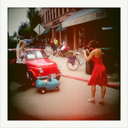 Sandpoint, Idaho with a smart phone during the 25th Anniversary of Lost in the Fifties weekend.