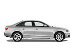 Passenger side profile view of a 2011 Audi A4 Sedan