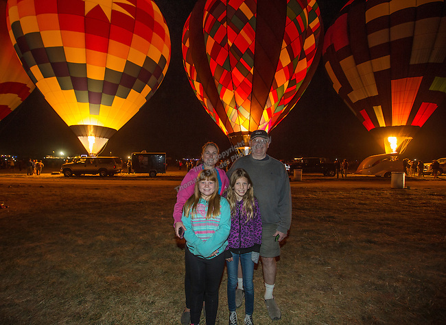 The Karpstein family at the Great Reno Balloon Races held on Saturday, Sept. 10, 2016.
