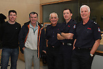 Oliver Flanagan  with Paul Smith, sub officer Michael Black, Craig Gibson and Station Officer Peter Leahy on retiring from the Fire Service in his 40th year in Service...(Photo credit should read Jenny Matthews www.newsfile.ie)....This Picture has been sent you under the conditions enclosed by:.Newsfile Ltd..The Studio,.Millmount Abbey,.Drogheda,.Co Meath..Ireland..Tel: +353(0)41-9871240.Fax: +353(0)41-9871260.GSM: +353(0)86-2500958.email: pictures@newsfile.ie.www.newsfile.ie.