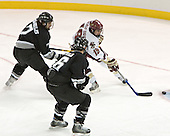 Dinos Stamoulis, Cody Wild, Brock Bradford  The Boston College Eagles defeated the Providence College Friars 3-2 in regulation on October 29, 2005 at Kelley Rink in Conte Forum in Chestnut Hill, MA.  It was BC's first Hockey East win of the season and Providence's first HE loss.