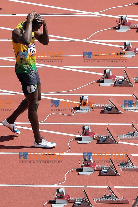 Usain Bolt Jamaica.London 04/08/2012 .London 2012 Olympic games  - Men s 100m Heat of Athletics - Olimpiadi Londra 2012 - 100m Uomini Atletica.Olympic Stadium.Foto Imago / Insidefoto.ITALY ONLY..
