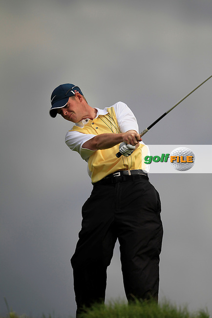 Padhraic O'Brien (Co. Louth) on the 6th tee during the South of Ireland Amateur Open Championship First Round at Lahinch Golf Club  27th July 2013 <br /> Picture:  Thos Caffrey / www.golffile.ie