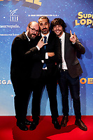 Javier Ruiz Caldera, Dani San Jose and Borja Cobeaga attends to Super Lopez premiere at Capitol cinema in Madrid, Spain. November 21, 2018. (ALTERPHOTOS/A. Perez Meca) /NortePhoto NORTEPHOTOMEXICO