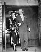Ann Arbor, MI - FILE --  Gerald R. Ford, Jr., and Betty Ford walk out of Grace Episcopal Church in Grand Rapids, MI, following their marriage. Date: October 15, 1948<br /> Credit: Courtesy Gerald R. Ford Library via CNP
