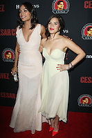 "HOLLYWOOD, LOS ANGELES, CA, USA - MARCH 20: Rosario Dawson, America Ferrera at the Los Angeles Premiere Of Pantelion Films And Participant Media's ""Cesar Chavez"" held at TCL Chinese Theatre on March 20, 2014 in Hollywood, Los Angeles, California, United States. (Photo by Celebrity Monitor)"