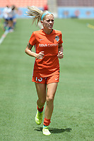 Houston, TX - Saturday May 27, 2017: Denise O'Sullivan warming up during a regular season National Women's Soccer League (NWSL) match between the Houston Dash and the Seattle Reign FC at BBVA Compass Stadium.