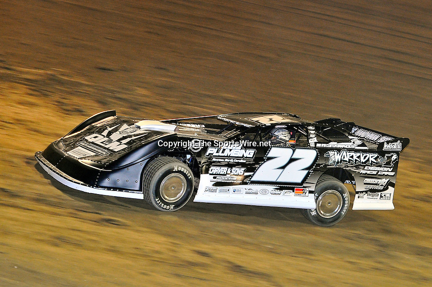 Sep 9, 2011; 9:23:14 PM; Rossburg, OH., USA; The 41st annual running of the World 100 Dirt Late Models racing for the Globe trophy at the Eldora Speedway.  Mandatory Credit: (thesportswire.net)