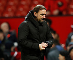 Daniel Farke manager of Norwich City walks off dejected during the Premier League match at Old Trafford, Manchester. Picture date: 11th January 2020. Picture credit should read: James Wilson/Sportimage