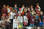 Berkeley CA Third grade students taking a bow after putting on a play about Mexico and the Aztecs
