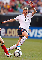 22 MAY 2010:  USA's Cat Whitehill  #4 during the International Friendly soccer match between Germany WNT vs USA WNT at Cleveland Browns Stadium in Cleveland, Ohio. USA defeated Germany 4-0 on May 22, 2010.