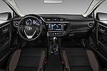Stock photo of straight dashboard view of 2017 Toyota Corolla LE-Eco-AT 4 Door Sedan Dashboard