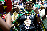 JOHANNESBURG, SOUTH AFRICA - NOVEMBER 2: Supporters of Jacob Zuma, the ANC president, greet him as he arrives on November 2, 2008 at Jabulani stadium in Soweto, South Africa. Mr. Zuma is expected to be elected as the 3rd democratic president in the country, during the up coming elections on April 22, 2009. Mr. Zuma is extremely popular among the black people in the country and despite his many problems with facing a corruption and fraud trial, his popularity only increases. (Photo by: Per-Anders Pettersson)...