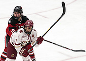 Paige Capistran (NU - 12), Kristyn Capizzano (BC - 7) -  The Boston College Eagles defeated the Northeastern University Huskies 2-1 in overtime to win the 2017 Hockey East championship on Sunday, March 5, 2017, at Walter Brown Arena in Boston, Massachusetts.