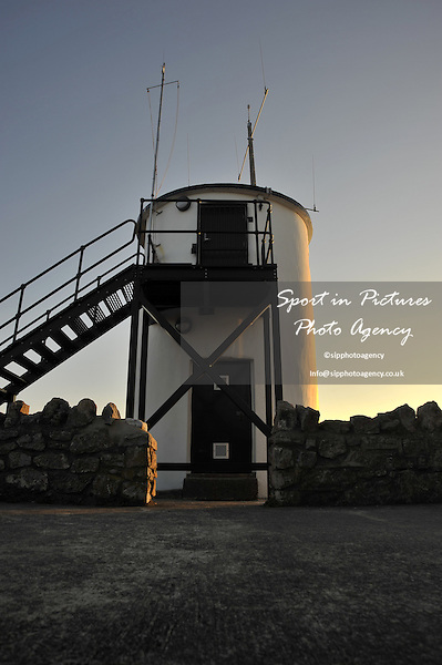 Lighthouse on the Harbour wall in Porthcawl. South Wales. UK. 30/09/2015. MANDATORY Credit Garry Bowden/Sportinpictures - NO UNAUTHORISED USE - 07837 394578