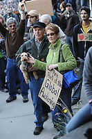 Middle class couple at 'Occupy Movement' rally.  Nelson, BC 2011