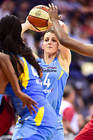 Washington, DC - July 13, 2018: Chicago Sky guard Allie Quigley (14) looks to pass the ball during game between the Washington Mystics and Chicago Sky at the Capital One Arena in Washington, DC. The Mystics defeat the Sky 88-72 (Photo by Phil Peters/Media Images International)