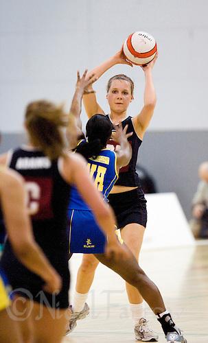11 MAR 2009 - SHEFFIELD,GBR - Katie Bradshaw - Loughborough University (black and maroon) v University of Bath (blue and yellow) - BUCS Championships '09. (PHOTO (C) NIGEL FARROW)