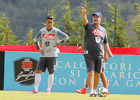 Rafael Benitez<br /> ritiro precampionato Napoli Calcio a  Dimaro 23 Luglio 2014<br /> <br /> Preseason summer training of Italy soccer team  SSC Napoli  in Dimaro Italy July 23, 2014