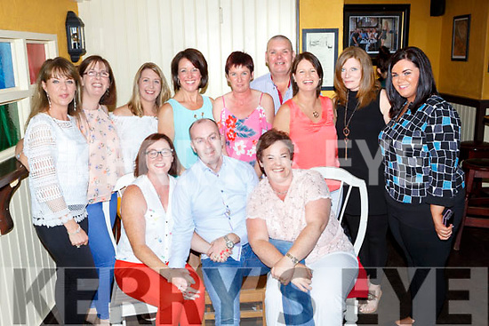 Oliver Murphy Millstreet celebrated his 42nd birthday and his 12th Wedding anniversary with his wife Linda (seated left) and his family and friends in the Porterhouse restaurant on Saturday night