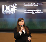 Rachel Routh during An Evening Of Legacy, Philanthropy & Music For The Benefit Of The Dramatists Guild Foundation at Morgan Stanley Headquarters on May 13, 2019 in New York City.