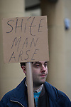 "© Joel Goodman - 07973 332324 . NO SYNDICATION PERMITTED . 21/03/2015 . Newcastle , UK . An anti fascist counter demonstration against a neo-Nazi "" White Man March "" in Newcastle . Photo credit : Joel Goodman"