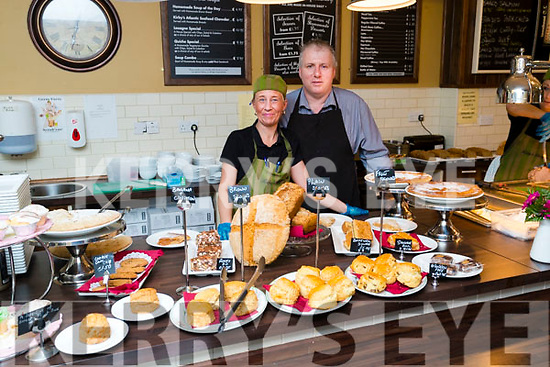 Noreen O'Mahony and Kevin Cotter in the Downstairs Restaurant at the Brogue Inn, Tralee.