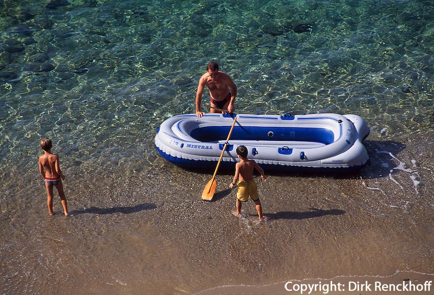 Baden  am Strand von Morcone, Elba, Italien