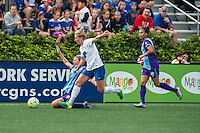 Allston, MA - Sunday July 31, 2016: Becky Edwards, Natasha Dowie, Kristen Edmonds during a regular season National Women's Soccer League (NWSL) match between the Boston Breakers and the Orlando Pride at Jordan Field.