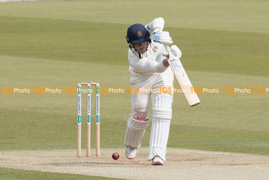Rob Jones of Lancashire CCC pushes into the offside during Middlesex CCC vs Lancashire CCC, Specsavers County Championship Division 2 Cricket at Lord's Cricket Ground on 13th April 2019