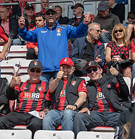 Bournemouth fans<br /> <br /> Photographer David Horton/CameraSport<br /> <br /> The Premier League - Bournemouth v Sheffield United - Saturday 10th August 2019 - Vitality Stadium - Bournemouth<br /> <br /> World Copyright © 2019 CameraSport. All rights reserved. 43 Linden Ave. Countesthorpe. Leicester. England. LE8 5PG - Tel: +44 (0) 116 277 4147 - admin@camerasport.com - www.camerasport.com
