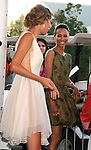 UNIVERSAL CITY, CA - JULY 22: Taylor Swift and Zoe Saldana pose in the press room at the 2012 Teen Choice Awards at Gibson Amphitheatre on July 22, 2012 in Universal City, California.