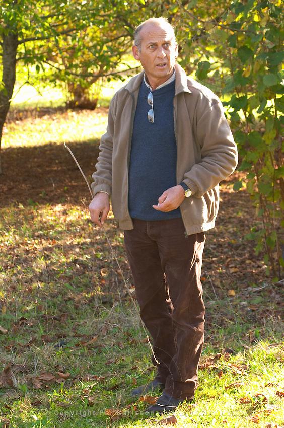 Hugues Martin, the owner of the truffles farm Truffiere de la Bergerie (Truffière) truffles farm Ste Foy de Longas Dordogne France