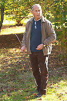 Hugues Martin, the owner of the truffles farm Truffiere de la Bergerie (Truffière) truffles farm Ste Foy de Longas Dordogne France