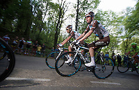 Romain Bardet (FRA/Ag2r-La Mondiale) &amp; Mikael Cherel (FRA/Ag2r-La Mondiale)<br /> <br /> Amstel Gold Race 2014