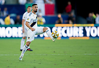 CARSON, CA - SEPTEMBER 29: Sebastian Lletget #17 of the Los Angeles Galaxy crosses a ball during a game between Vancouver Whitecaps and Los Angeles Galaxy at Dignity Health Sports Park on September 29, 2019 in Carson, California.