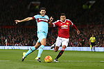 West Ham's James Tomkins and Jesse Lingard of Manchester United - Manchester United vs West Ham United - Barclay's Premier League - Old Trafford - Manchester - 05/12/2015 Pic Philip Oldham/SportImage