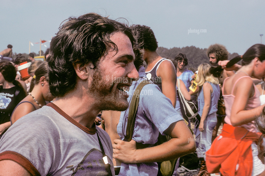 As they Meet by Surprize, Deadheads and Friends of Mine on our way into The Grateful Dead Concert at Raceway Park, Englishtown NJ on 3 September 1977. Labor Day Weekend and on The Road into the Show. This shot taken outside the venue leading up to a gate.