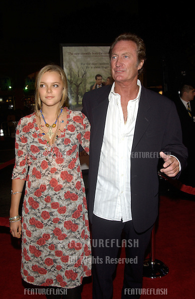 Actor BRYAN BROWN & daughter MATHILDA at the world premiere, in Hollywood, of his new movie Along Came Polly..January 12, 2004