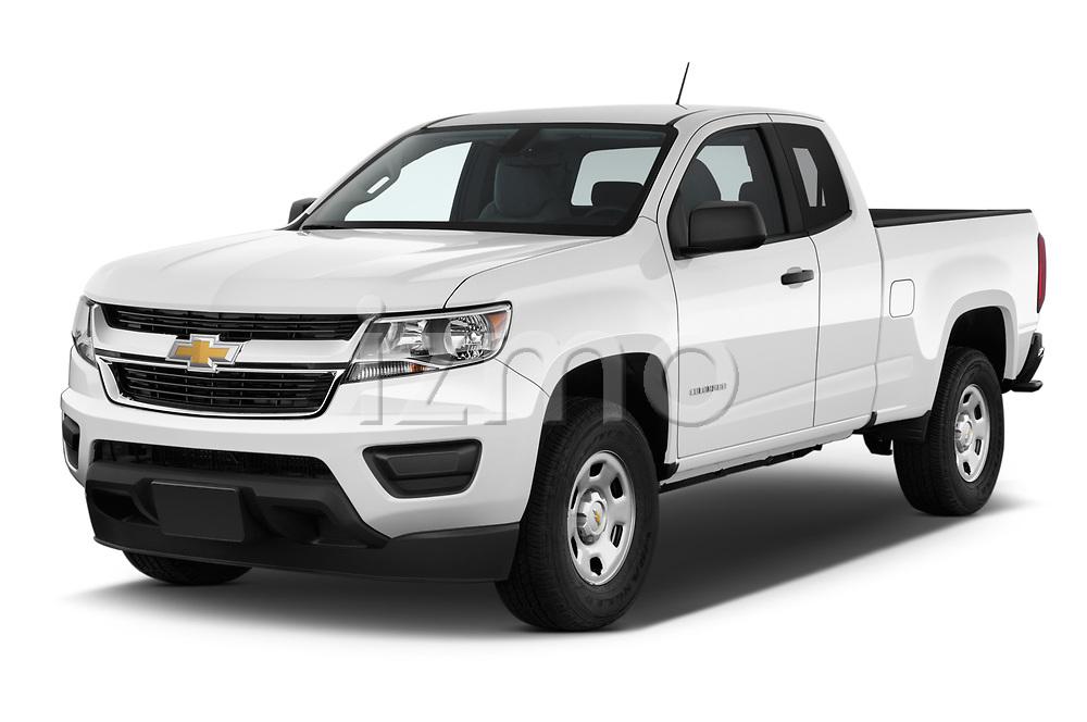 2019 Chevrolet Colorado WT 4 Door Pick Up angular front stock photos of front three quarter view