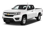 2019 Chevrolet Colorado WT 4 Door Pick Up angular front stock photos of front three quarter view