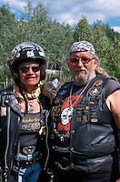 USA, Alaska, Harley-Fans bei Fairbanks