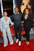 "LOS ANGELES, CA. January 30, 2019: Eva Longoria, Amaury Nolasco & Diana-Maria Riva at the world premiere of ""Miss Bala"" at the Regal LA Live.<br /> Picture: Paul Smith/Featureflash"