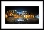 "Framed Photo of Husky Stadium on Lake Washington. Taken during historic last game before major stadium renovation. Available in frame sized of 24x36"" or 12x24"" Photo by Rob Sumner / Red Box Pictures."