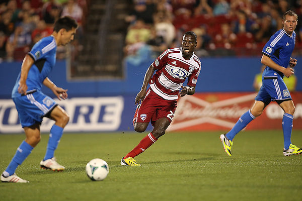 FRISCO, TX: Je-Vaughn Watson #27 of FC Dallas in action against the San Jose Earthquakes at FC Dallas Stadium in Frisco, Texas on May 25,2013 (Photo Rick Yeatts)