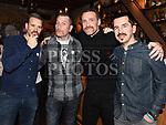 Michael Pettibone, Oisín Garvan, Jason Collier and Ronan Kelly atSt Colmcilles Movember event in the d hotel. Photo:Colin Bell/pressphotos.ie