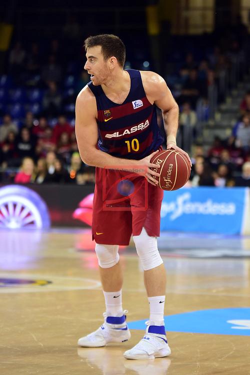 League ACB-ENDESA 2016/2017 - Game: 13.<br /> FC Barcelona Lassa vs Divina seguros Joventut: 79-77.<br /> Victor Claver.